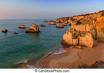 algarve, salida del sol, portugal, litoral