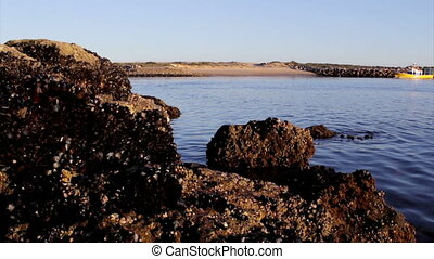 Algarve - Tavira - Boat Background - Boat traveling in...