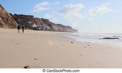Algarve %u201CBelharucas%u201D beach scenario, Portugal