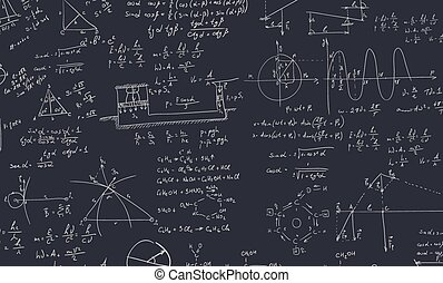 Algebra formula - A blackboard with algebra formula. A...