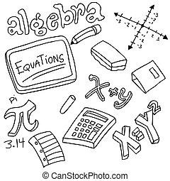 Algebra Symbols and Objects - An image of algebra symbols...