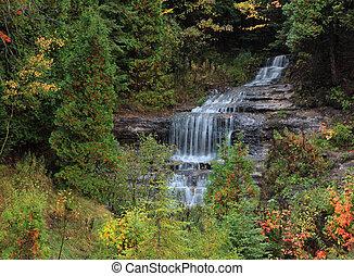 Alger Falls east of Munising Upper Peninsula Michigan