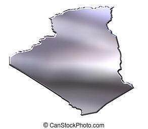 Algeria 3D Silver Map