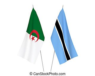 Algeria and Botswana flags - National fabric flags of ...