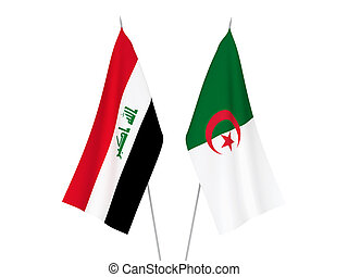 Algeria and Iraq flags - National fabric flags of Algeria ...