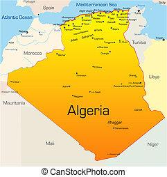 Algeria country - Abstract vector color map of Algeria...