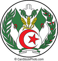 Algeria emb - Various vector flags, state symbols, emblems...
