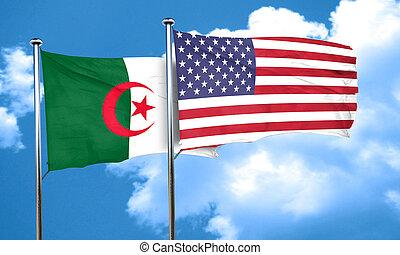 algeria flag, 3D rendering