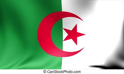 Algeria Flag. Background Seamless Looping Animation. 4K High Definition Video.