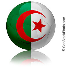 Algeria flag ball - Texture of Algeria flag on glossy soccer...