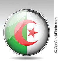 Algeria flag button