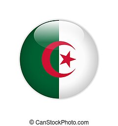 Algeria flag on button