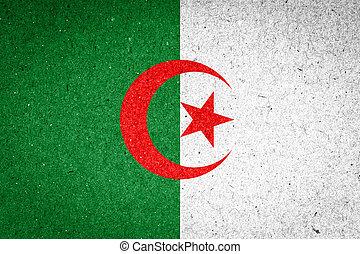 Algeria flag on paper background