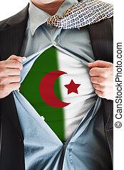 Algeria flag on shirt
