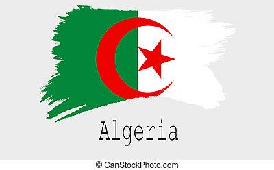 Algeria flag on white background