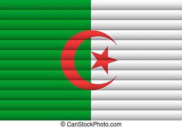 Algeria Flag. Vector Illustration.