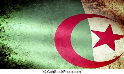 Algeria Flag Waving, grunge