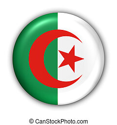 Algeria Flag - World Flag Button Series - Africa - Algeria...