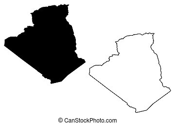 Algeria map vector
