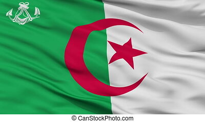 Algeria Naval Ensign Flag Closeup Seamless Loop - Naval...