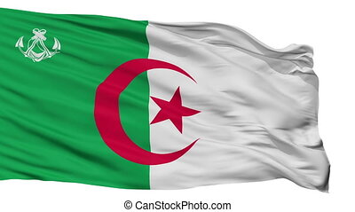 Algeria Naval Ensign Flag Isolated Seamless Loop - Naval...