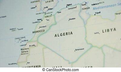 Algeria on a Map