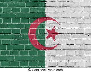 Algeria Politics Concept: Algerian Flag Wall
