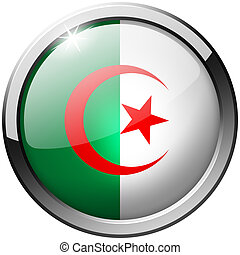 Algeria Round Metal Glass Button