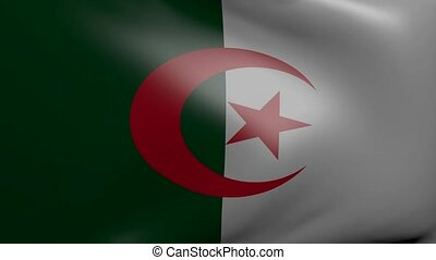 algeria strong wind flag