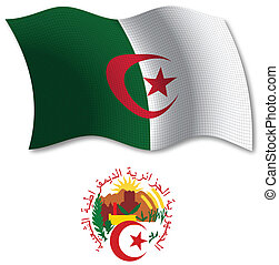 algeria textured wavy flag vector