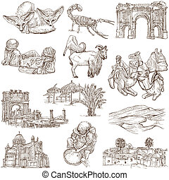 Algeria travel - An hand drawn pack - Travel series: ALGERIA...