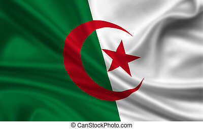 Algeria - waving flag of algeria
