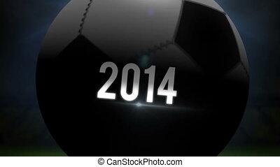 Algeria world cup 2014 animation with football on black...