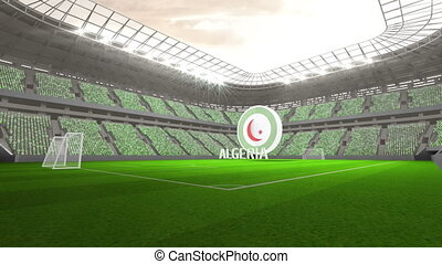 Algeria world cup message with badge and text in large...