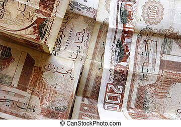 Algerian two hundred dinar notes