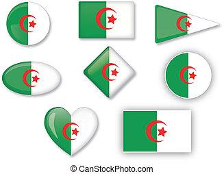 Algerian flag set