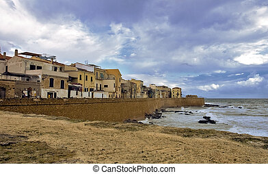Part of the old town of Alghero