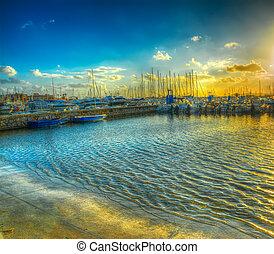 Alghero harbor in hdr