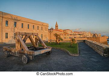 Alghero, Sardinia Island, Italy in the sunset