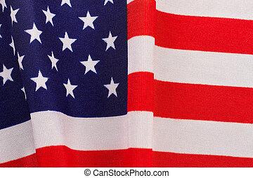algodão, bandeira, de, eua, experiência.