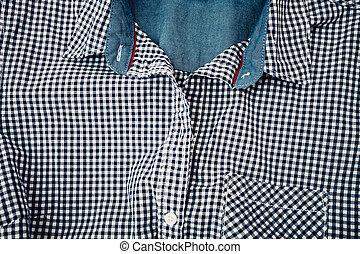 algodão, camisa, fundo