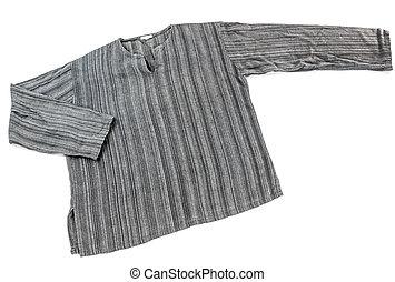 algodão, camisa, isole
