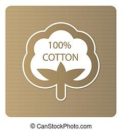 algodão, etiqueta