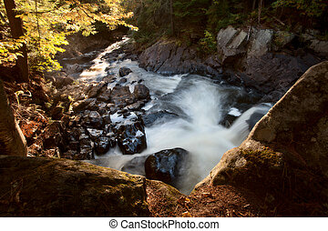 Algonquin Park Muskoka Ontario Waterfall - Algonquin Park...