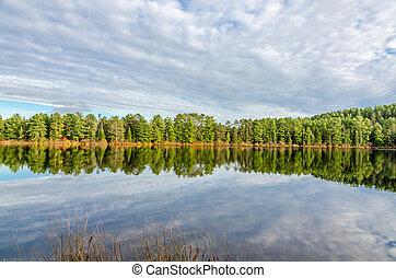 algonquin, parque, lago