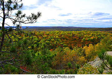 Algonquin Provincial Park, Ontario, Canada. Beautiful fall...