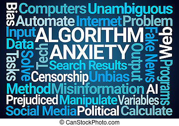 Algorithm Anxiety Word Cloud