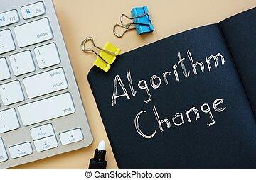 Algorithm Change sign on the sheet.