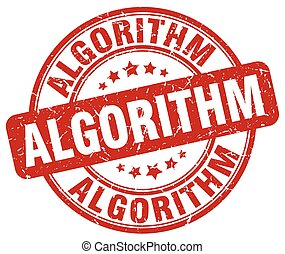 algorithm red grunge stamp
