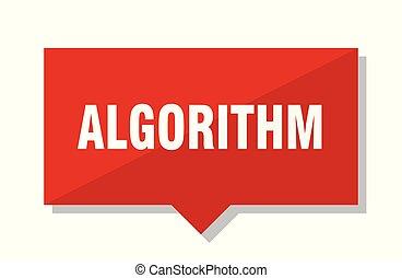 algorithm, rood etiket
